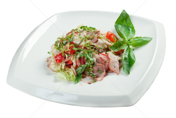 Healthy vegetarian Salad with beef language Stock photo © fanfo