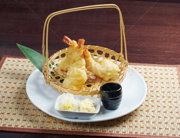 Japanese fried tempura with shrimp  Stock photo © fanfo
