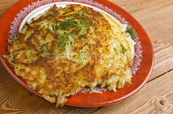 Irlandais de pomme de terre crêpes traditionnel frit plats Photo stock © fanfo