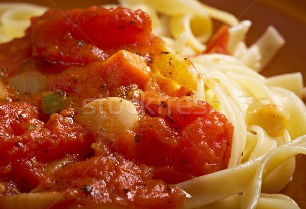 Sicilian homemade   pasta  Fettuccine Stock photo © fanfo
