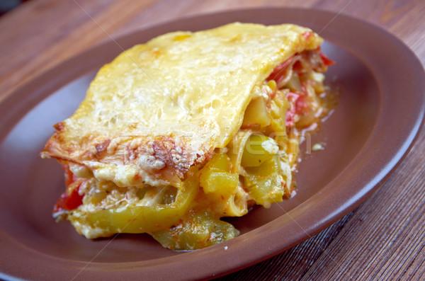 Vegetali lasagna fatto in casa pomodoro Foto d'archivio © fanfo