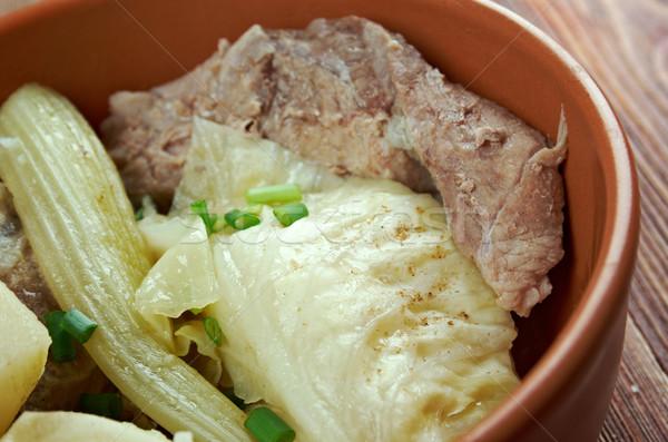 Tradizionale piatto pezzi montone ossa Foto d'archivio © fanfo