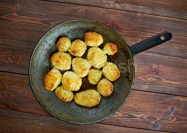 Stockfoto: Aardappel · versie · gebakken · plaat · schotel