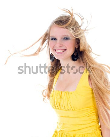 happy teenage girl isolated  Stock photo © fanfo