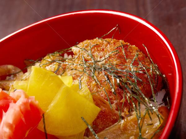 терияки куриные риса традиционный японская еда красный Сток-фото © fanfo