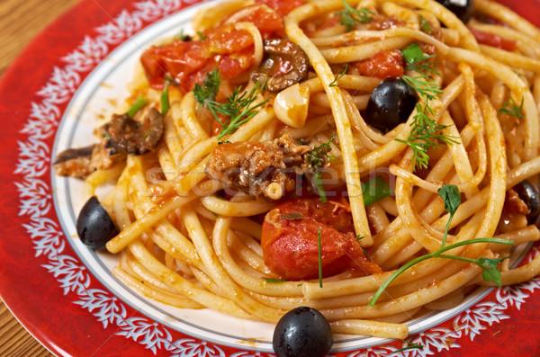 Spaghetti zout Italiaans pasta typisch zuidelijk Stockfoto © fanfo