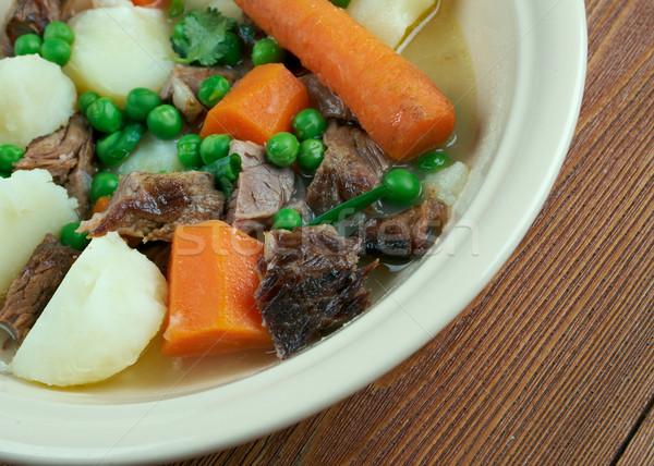 Francese spezzatino agnello montone verde carne Foto d'archivio © fanfo