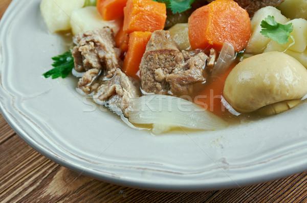 ирландский тушеное мясо свинина продовольствие суп растительное Сток-фото © fanfo