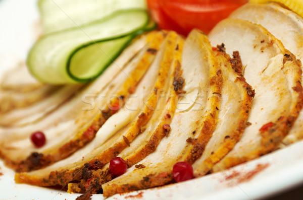 美しい 食品 アレンジメント 豚肉 浅い ストックフォト © fanfo