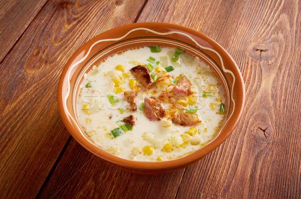 Bacon Chili Corn Chowder Stock photo © fanfo