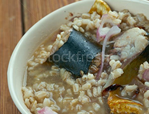 Herring soup Stock photo © fanfo