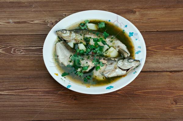 Leves hal étterem vacsora ebéd tengeri hal Stock fotó © fanfo