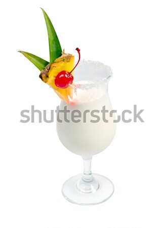 coco with  cherry and pineapple cocktail  Stock photo © fanfo