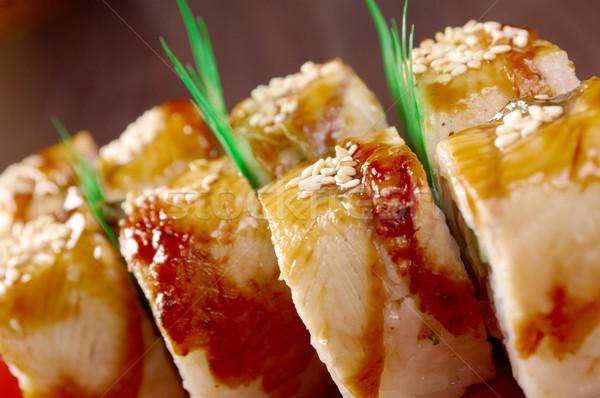 Sushi anguilla tradizionale cibo giapponese pesce salute Foto d'archivio © fanfo