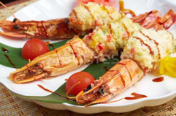 Stock fotó: Királyi · tigris · étel · étterem · szakács · edény