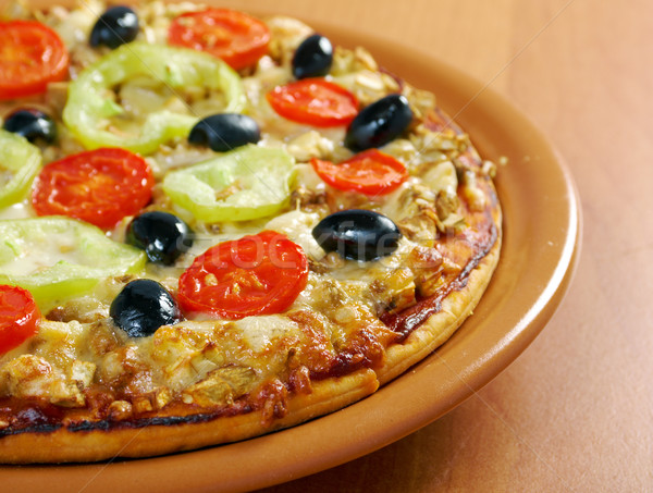 Photo stock: Maison · pizza · tomate · aubergine · fromages