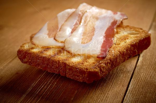 焼いた パン ベーコン スライス アップ ストックフォト © fanfo