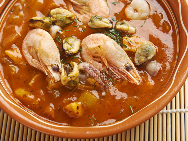 Peces estofado San Francisco plato cocina italiana Foto stock © fanfo