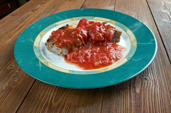 традиция свойства мяса приготовленный помидоров Сток-фото © fanfo