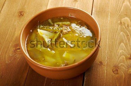 russian tradition soup Rassolnik Stock photo © fanfo