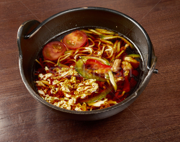 Chinese meat soup with vegetables Stock photo © fanfo