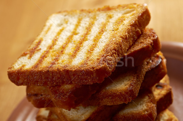 Tostato pane fette up pane bianco Foto d'archivio © fanfo