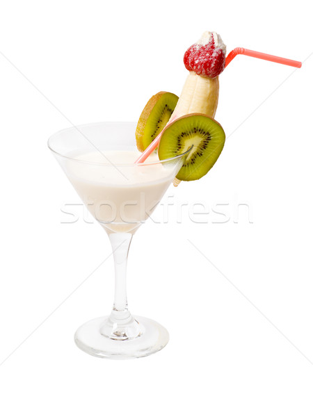tropical coco with kiwi and banana cocktail i Stock photo © fanfo