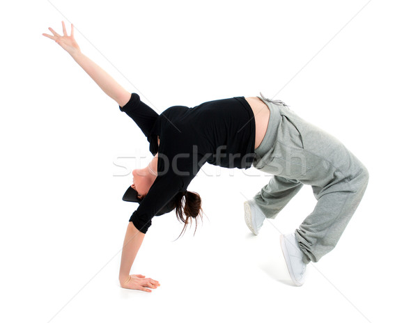 stylish and cool hip hop style dancer posing   Stock photo © fanfo