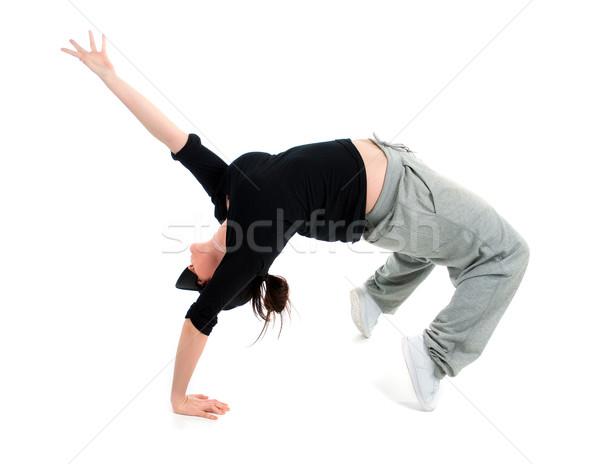 Cool хип-хоп стиль танцовщицы позируют Сток-фото © fanfo
