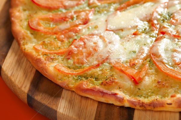 Pizza domates peynir İtalyan mutfak stüdyo Stok fotoğraf © fanfo