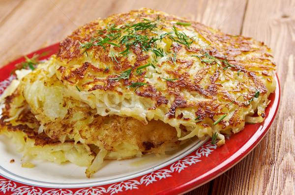 ír krumpli palacsinta hagyományos sült edények Stock fotó © fanfo