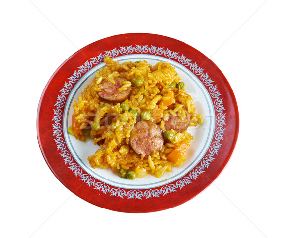 Arroz con chorizo Stock photo © fanfo