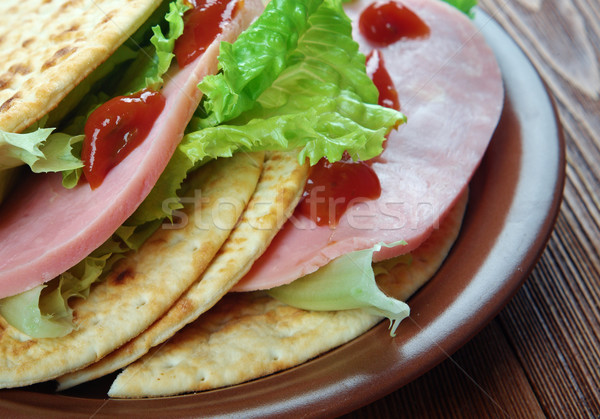 Tacos ham Stock photo © fanfo