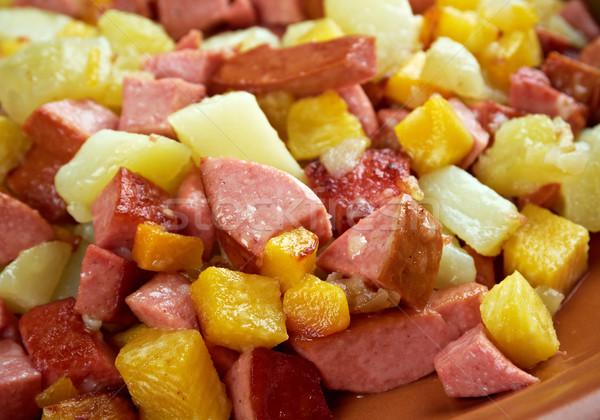 Kicsi darabok serpenyő népszerű edény Svédország Stock fotó © fanfo