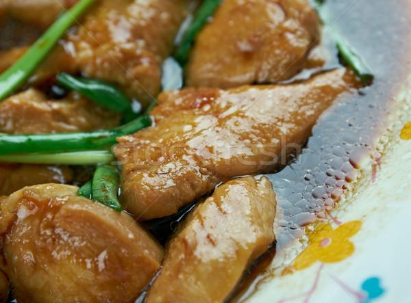 Mongolian Chicken Stock photo © fanfo