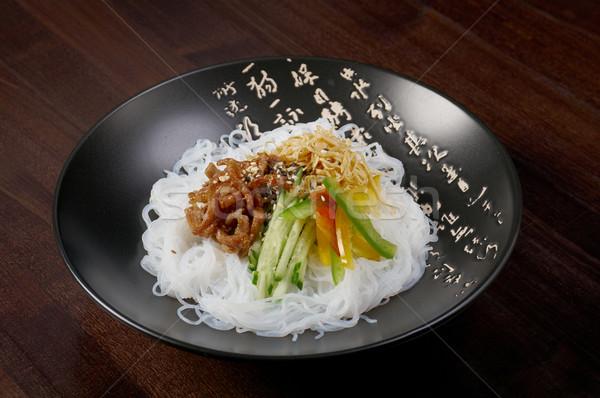 Stock fotó: Japán · rizs · tészta · disznóhús · zöldség · zöld