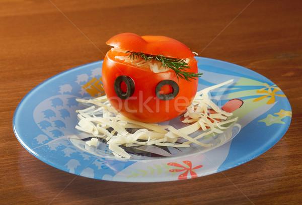 Tomatoes stuffed Stock photo © fanfo