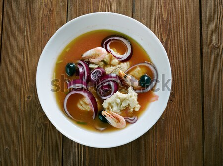 herring fish fillets with potato  Stock photo © fanfo