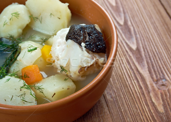 stew catfish with potato Stock photo © fanfo