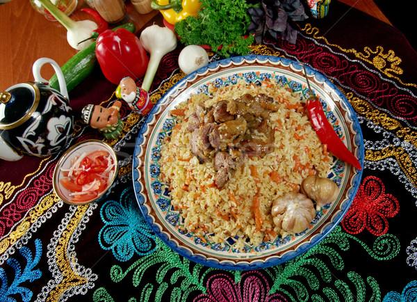 Stock fotó: Távolkeleti · központi · ázsiai · konyha · étel · eszik · főzés