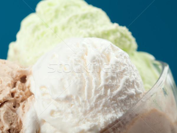 ice cream in a glass vase. closeup Stock photo © fanfo