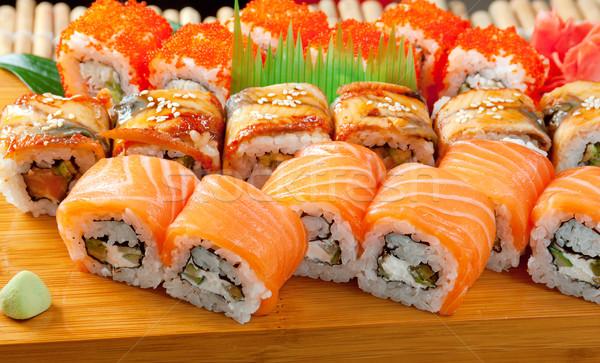 Японский суши традиционный копченый рыбы морем Сток-фото © fanfo