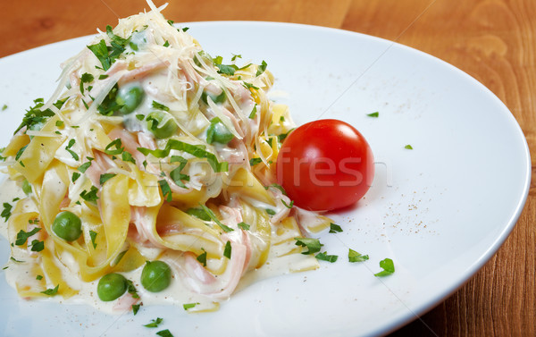 pasta Fettuccine Alfredo Stock photo © fanfo