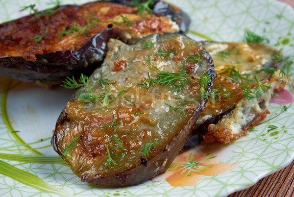 cotolette di melanzane  - Italian appetizer with eggplant Stock photo © fanfo
