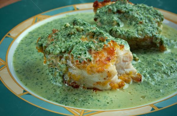 Salsa ryb zielone sos cytryny Zdjęcia stock © fanfo