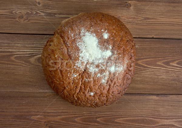 Rusztikus rozs kenyér frissen sült hagyományos Stock fotó © fanfo