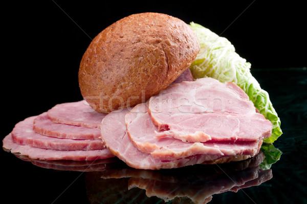 sliced food arrangement of meat Stock photo © fanfo