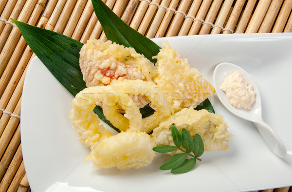Japanese fried tempura with shrimp Stock photo © fanfo