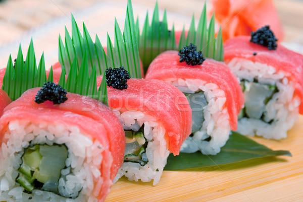 Stok fotoğraf: Japon · sushi · geleneksel · balık · restoran · et