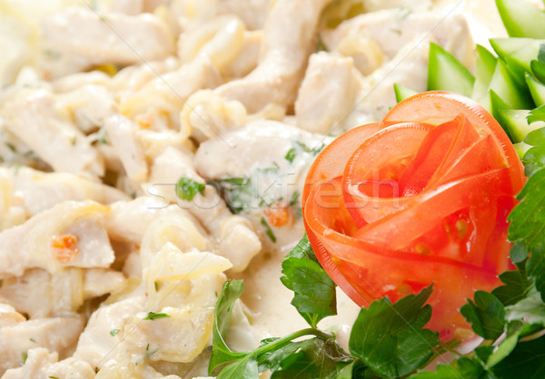 Salada lombo de vaca salada de frango frango café da manhã legumes Foto stock © fanfo